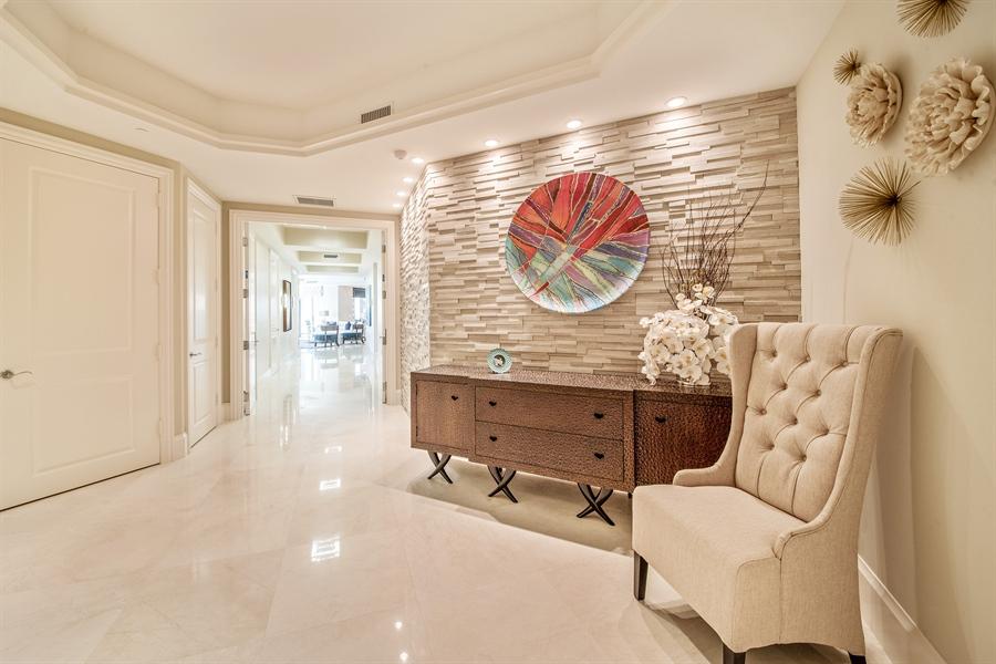 Real Estate Photography - 4851 Bonita Bay Blvd, Unit 702, Bonita Springs, FL, 34134 - Foyer
