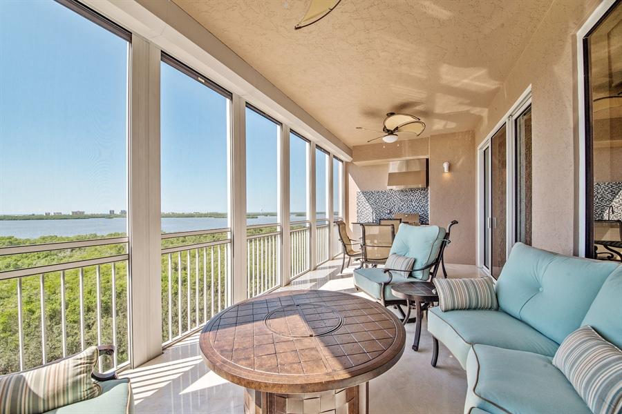 Real Estate Photography - 4851 Bonita Bay Blvd, Unit 702, Bonita Springs, FL, 34134 - Lanai