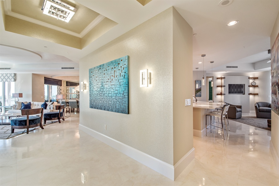 Real Estate Photography - 4851 Bonita Bay Blvd, Unit 702, Bonita Springs, FL, 34134 - Kitchen / Living Room