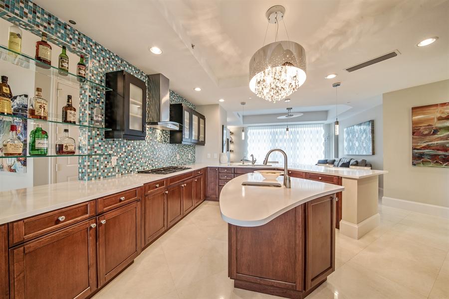 Real Estate Photography - 4851 Bonita Bay Blvd, Unit 702, Bonita Springs, FL, 34134 - Family Room / Kitchen