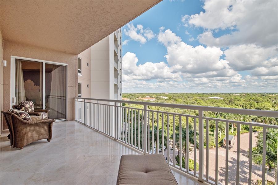 Real Estate Photography - 4851 Bonita Bay Blvd, Unit 702, Bonita Springs, FL, 34134 - Balcony