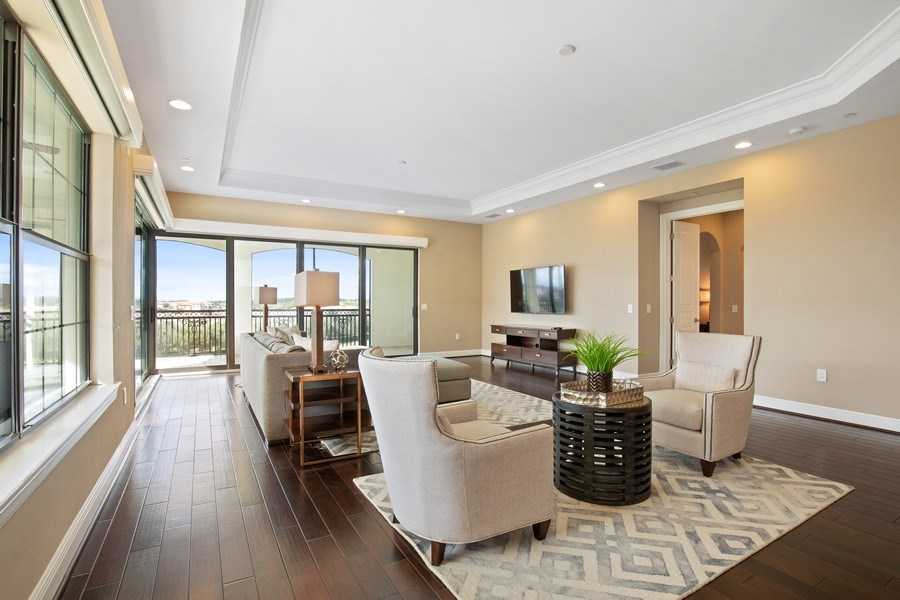 Real Estate Photography - 16433 Carrara Way #301, Naples, FL, 34110 - Living Room