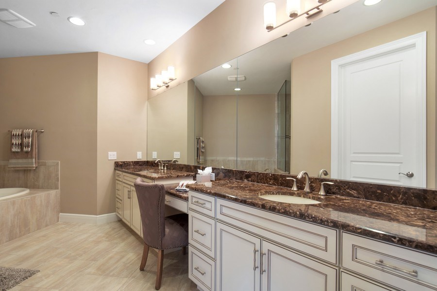 Real Estate Photography - 16433 Carrara Way #301, Naples, FL, 34110 - Master Bathroom