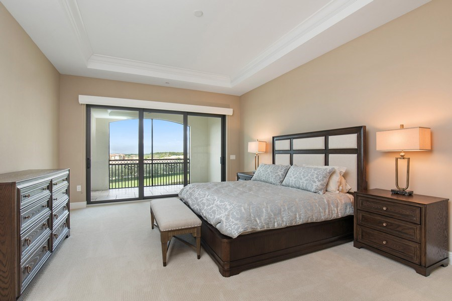 Real Estate Photography - 16433 Carrara Way #301, Naples, FL, 34110 - Master Bedroom