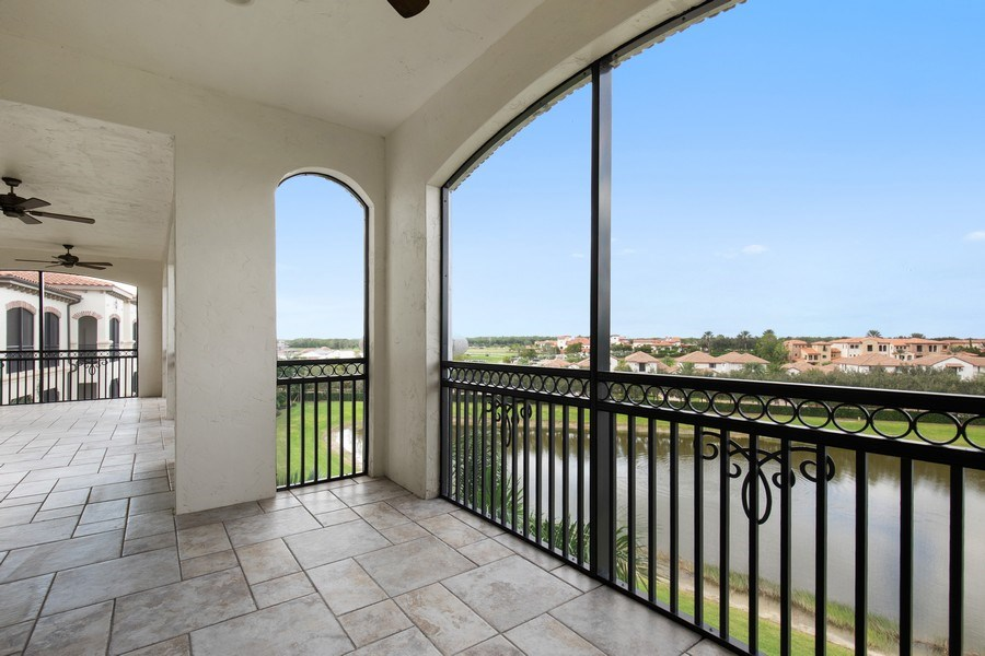 Real Estate Photography - 16433 Carrara Way #301, Naples, FL, 34110 - Lanai