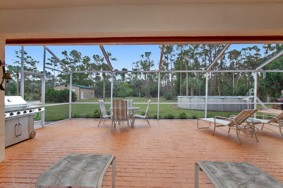 Real Estate Photography - 3480 19th Ave SW, Naples, FL, 34117 - Patio