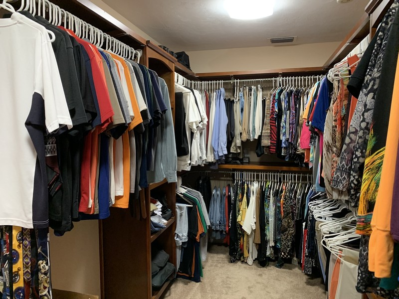 Real Estate Photography - 3480 19th Ave SW, Naples, FL, 34117 - Master closet
