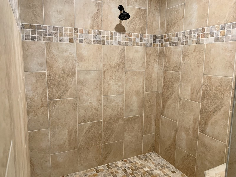 Real Estate Photography - 3480 19th Ave SW, Naples, FL, 34117 - Master shower