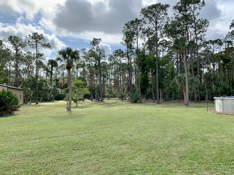 Real Estate Photography - 3480 19th Ave SW, Naples, FL, 34117 - Back yard