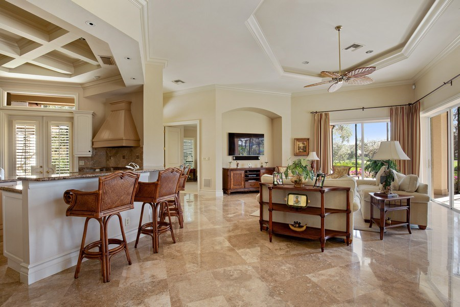 Real Estate Photography - 12266 Colliers Reserve Dr, Naples, FL, 34110 - Family Room / Kitchen