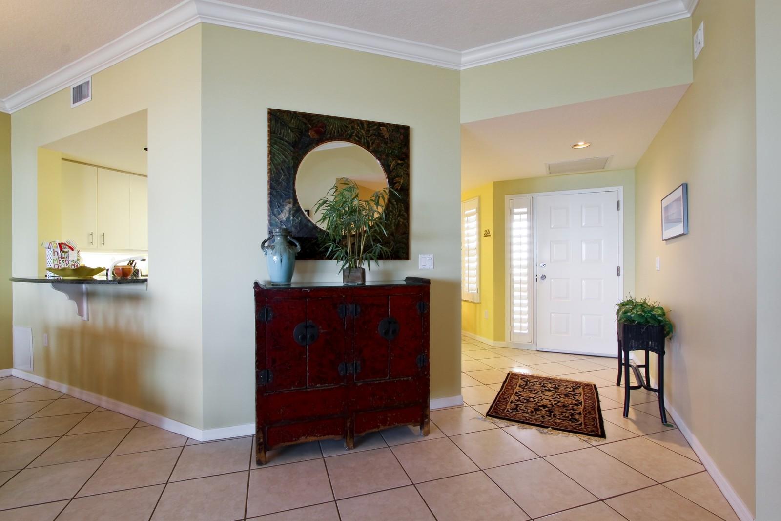 Real Estate Photography - 265 Barefoot Beach, Unit 303, Bonita Springs, FL, 34134 - Foyer