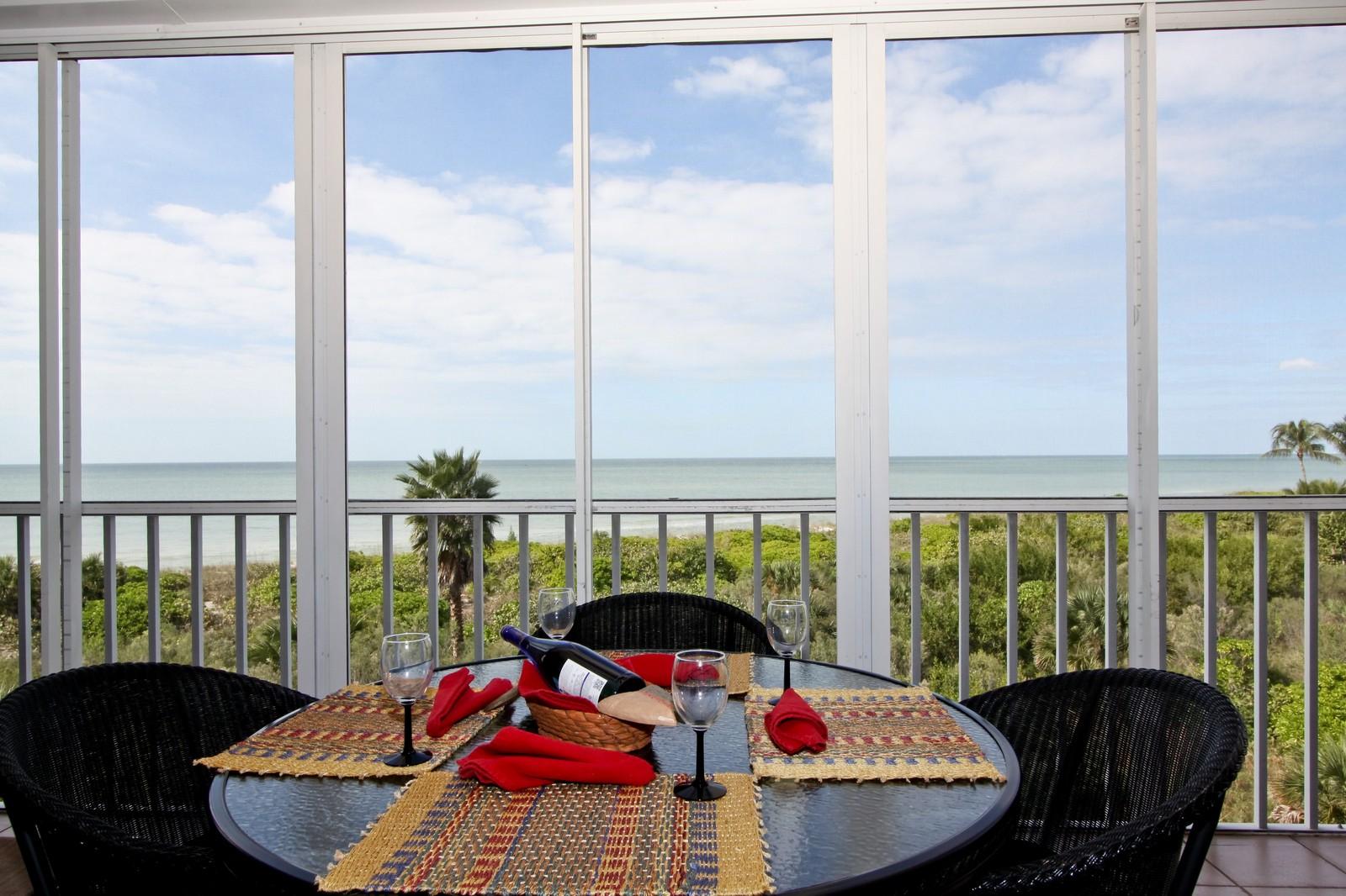 Real Estate Photography - 265 Barefoot Beach, Unit 303, Bonita Springs, FL, 34134 - Lanai