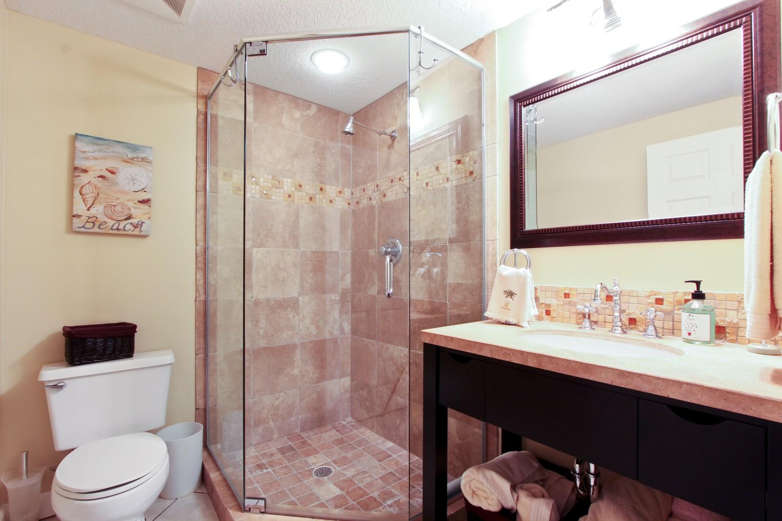 Real Estate Photography - 265 Barefoot Beach, Unit 303, Bonita Springs, FL, 34134 - Bathroom