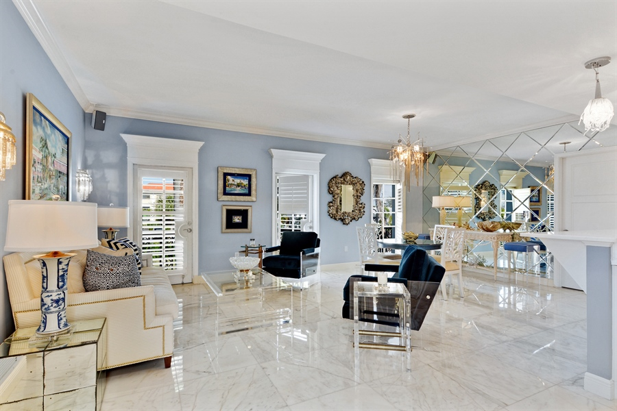 Real Estate Photography - 292 14th Ave. South, A B, Naples, FL, 34102 - Living Room