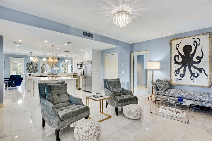 Real Estate Photography - 292 14th Ave. South, A B, Naples, FL, 34102 - Family Room