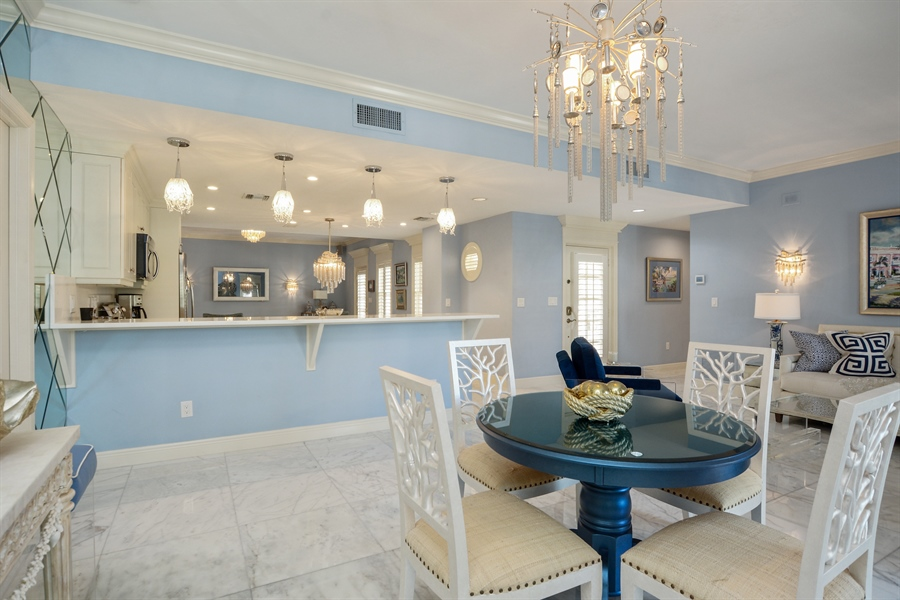 Real Estate Photography - 292 14th Ave. South, A B, Naples, FL, 34102 - Dining Area