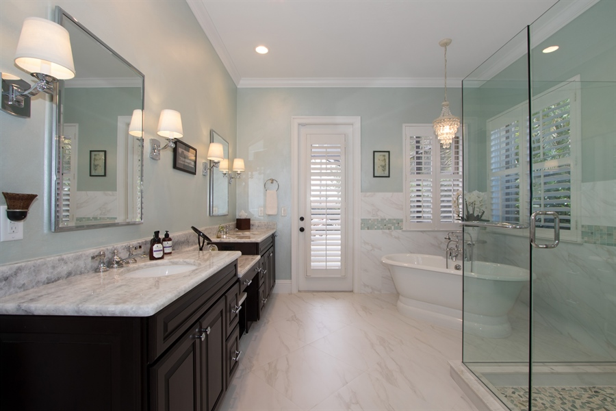 Real Estate Photography - 11361 Longwater Chase, Fort Myers, FL, 33908 - Master Bathroom