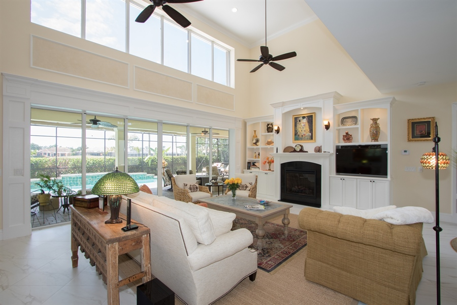 Real Estate Photography - 11361 Longwater Chase, Fort Myers, FL, 33908 - Living Room