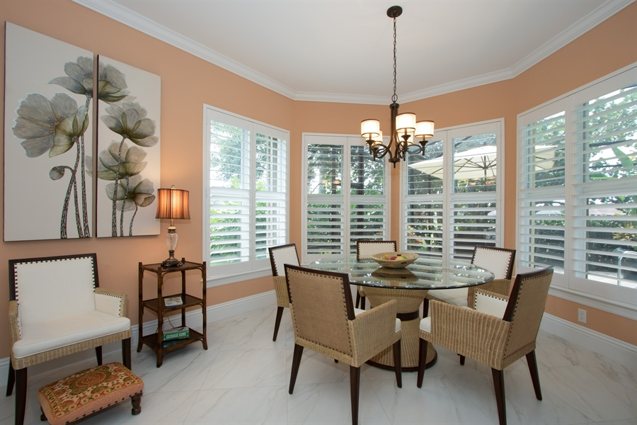 Real Estate Photography - 11361 Longwater Chase, Fort Myers, FL, 33908 - Breakfast Nook