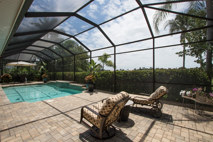Real Estate Photography - 11361 Longwater Chase, Fort Myers, FL, 33908 - Patio