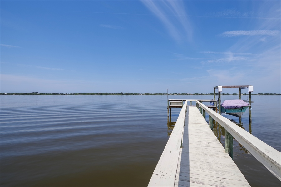 Real Estate Photography - 802 Loggerhead Island Dr., Satellite Beach, FL, 32937 - Dock