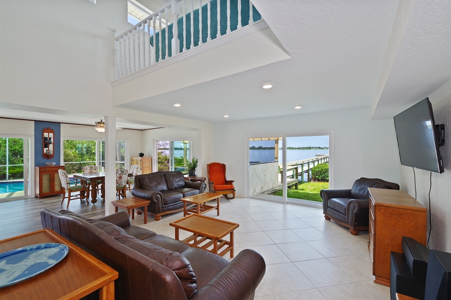 Real Estate Photography - 802 Loggerhead Island Dr., Satellite Beach, FL, 32937 - Family Room