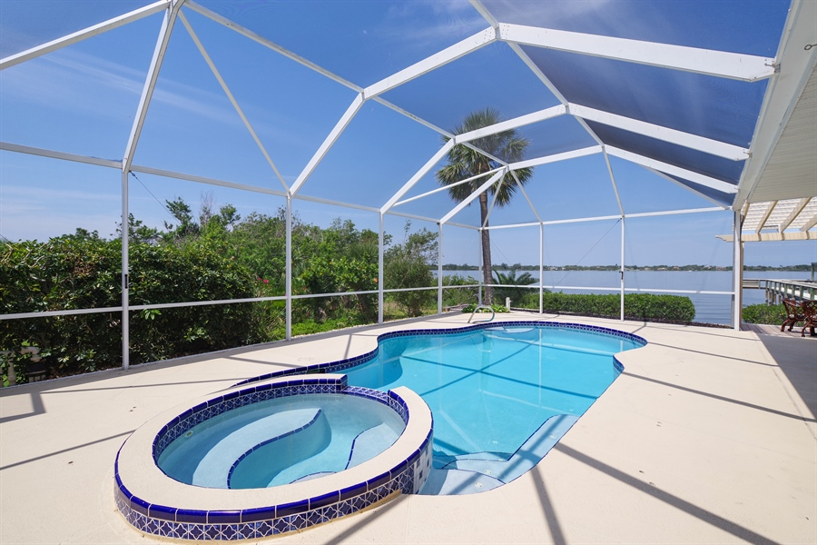 Real Estate Photography - 802 Loggerhead Island Dr., Satellite Beach, FL, 32937 - Pool