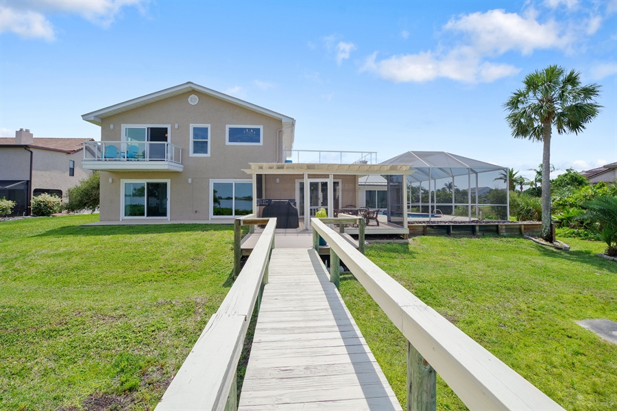 Real Estate Photography - 802 Loggerhead Island Dr., Satellite Beach, FL, 32937 - Rear View