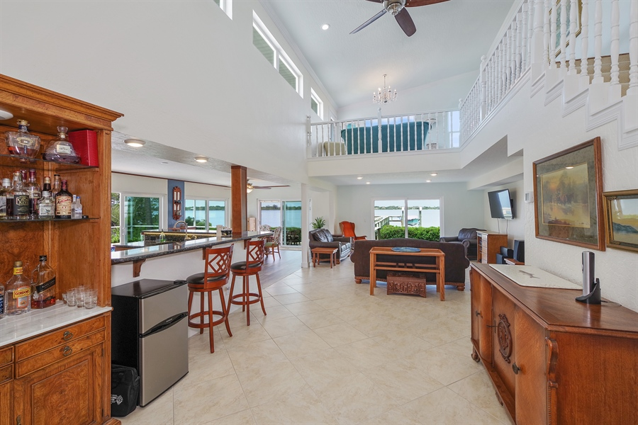 Real Estate Photography - 802 Loggerhead Island Dr., Satellite Beach, FL, 32937 - Family Room / Kitchen