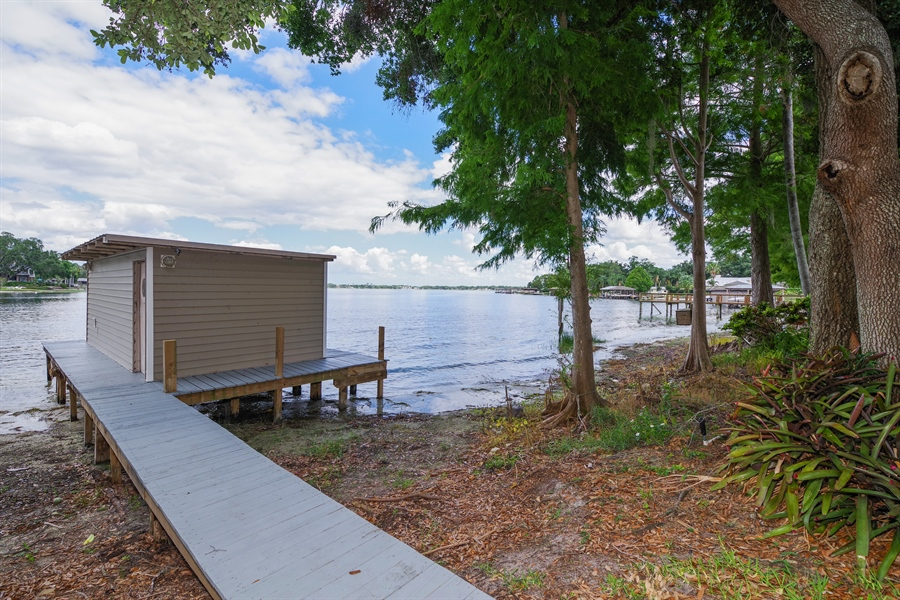 Real Estate Photography - 7001 Lake Drive, Belle Isle, FL, 32809 - Boathouse