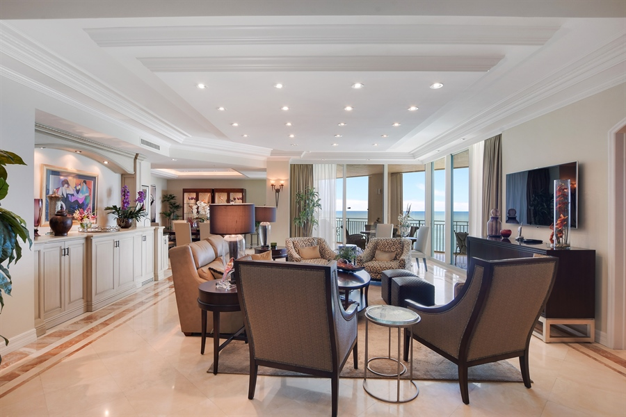 Real Estate Photography - 960 Cape Marco Dr, Unit 1504, Marco Island, FL, 34145 - Living Room