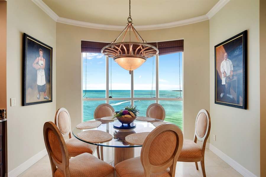 Real Estate Photography - 960 Cape Marco Dr, Unit 1504, Marco Island, FL, 34145 - Dining Area