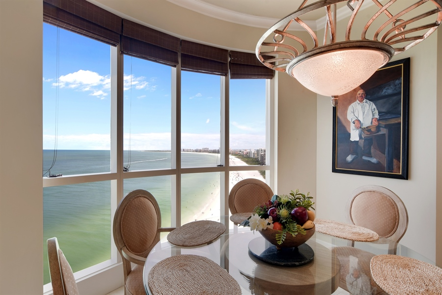 Real Estate Photography - 960 Cape Marco Dr, Unit 1504, Marco Island, FL, 34145 - Dining Area 2
