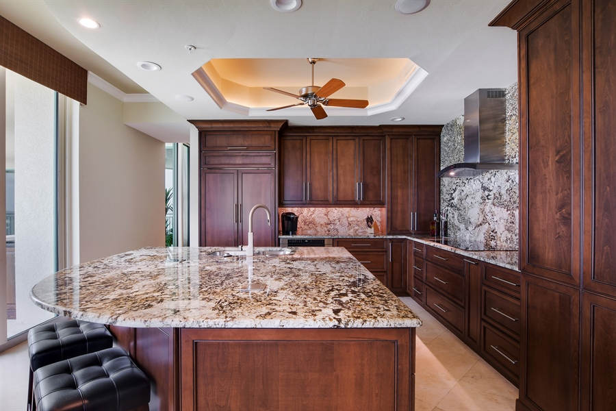 Real Estate Photography - 960 Cape Marco Dr, Unit 1504, Marco Island, FL, 34145 - Kitchen