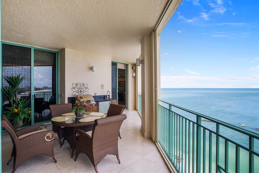 Real Estate Photography - 960 Cape Marco Dr, Unit 1504, Marco Island, FL, 34145 - Patio