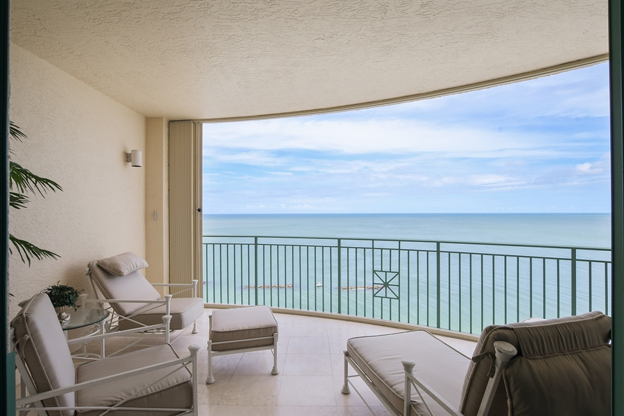 Real Estate Photography - 960 Cape Marco Dr, Unit 1504, Marco Island, FL, 34145 - Balcony