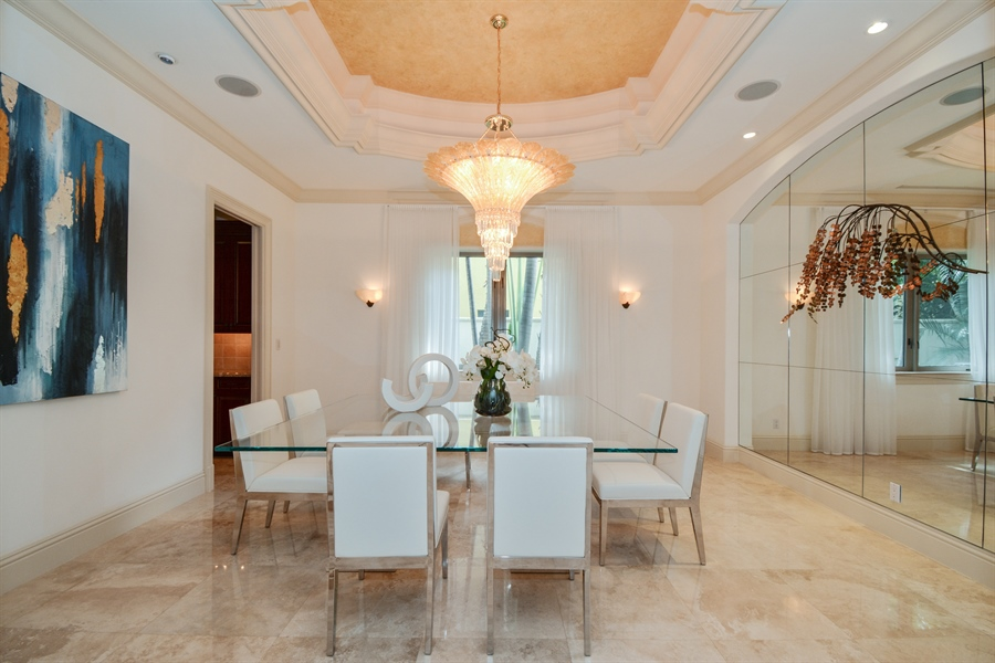 Real Estate Photography - 2584 Lucille Drive, Fort Lauderdale, FL, 33316 - Dining Room