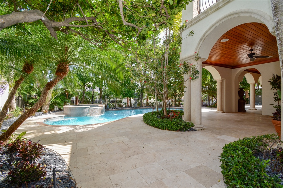Real Estate Photography - 2584 Lucille Drive, Fort Lauderdale, FL, 33316 - Pool, Spa, Patio