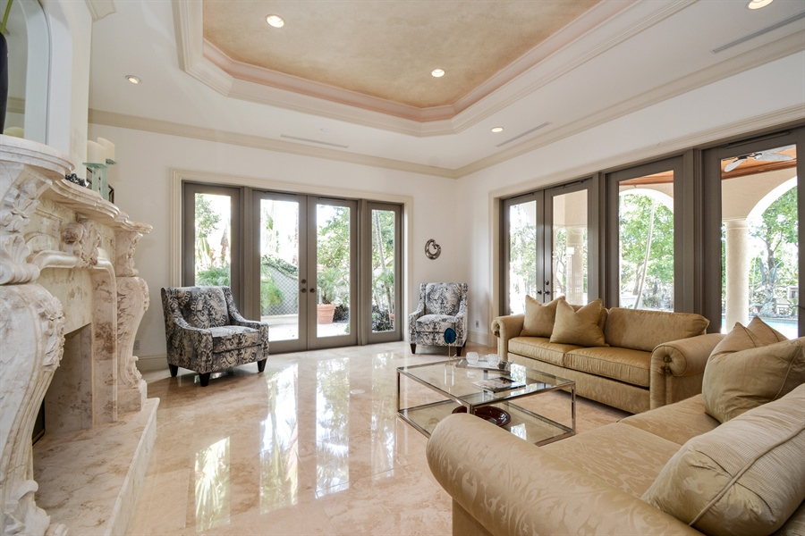 Real Estate Photography - 2584 Lucille Drive, Fort Lauderdale, FL, 33316 - Formal Living Room