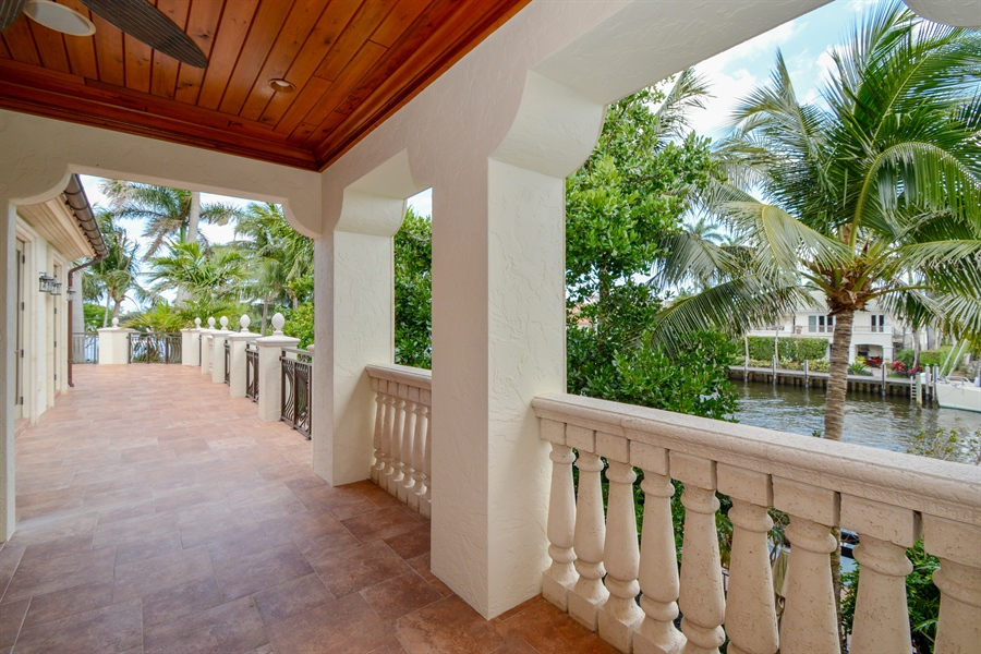 Real Estate Photography - 2584 Lucille Drive, Fort Lauderdale, FL, 33316 - Master Suite Covered Balcony