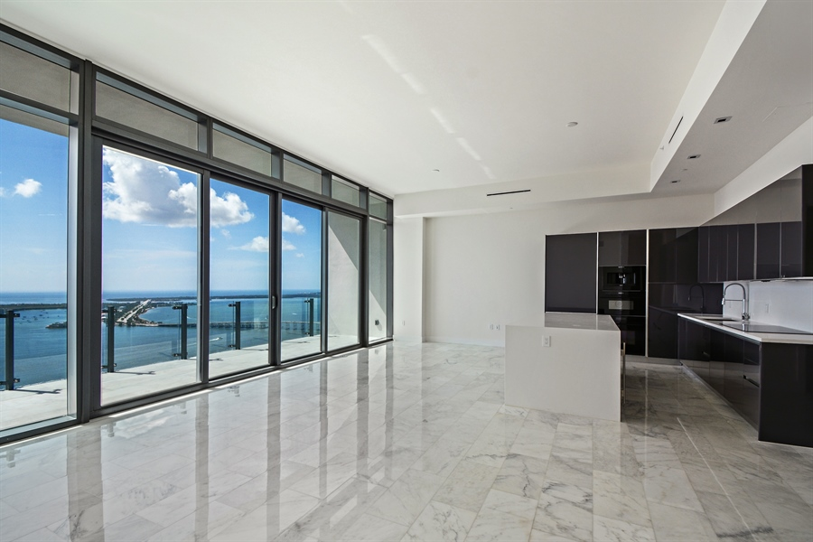 Real Estate Photography - 1451 Brickell Ave., LPH5201, Miami, FL, 33131 - Living Room