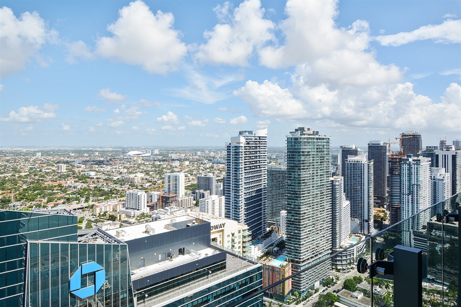 Real Estate Photography - 1451 Brickell Ave., LPH5201, Miami, FL, 33131 - City View