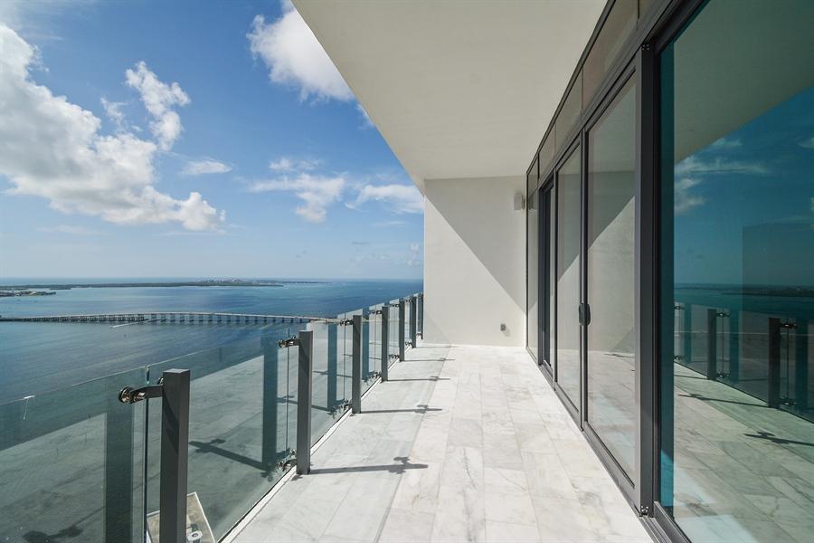 Real Estate Photography - 1451 Brickell Ave., LPH5201, Miami, FL, 33131 - Balcony