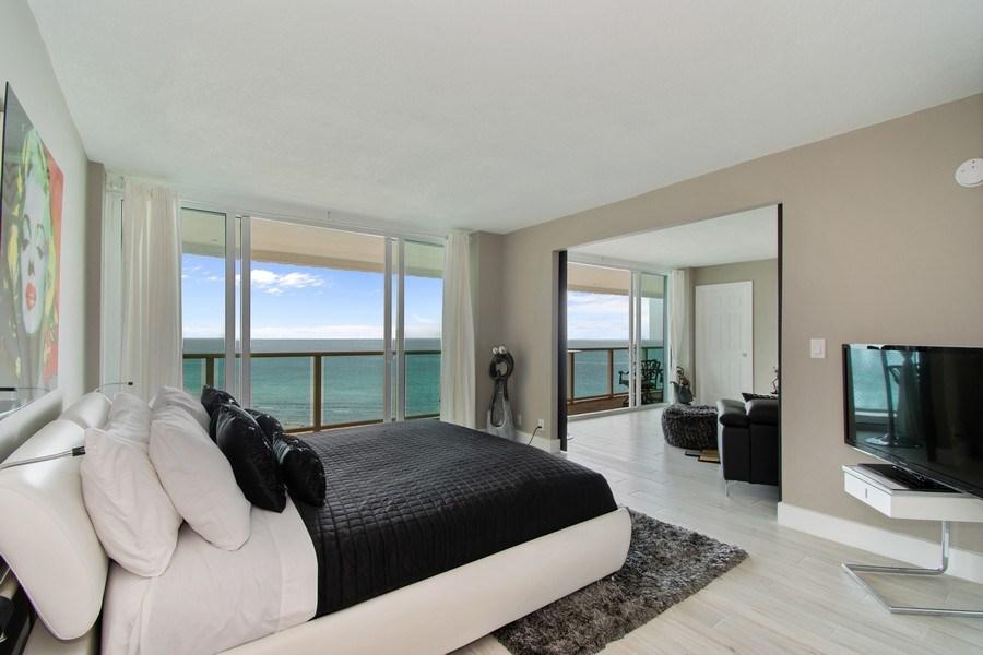 Real Estate Photography - Tiara East Condos, 333 NE 21st Ave #1802, Deerfield Beach, FL, 33441 - Master Bedroom