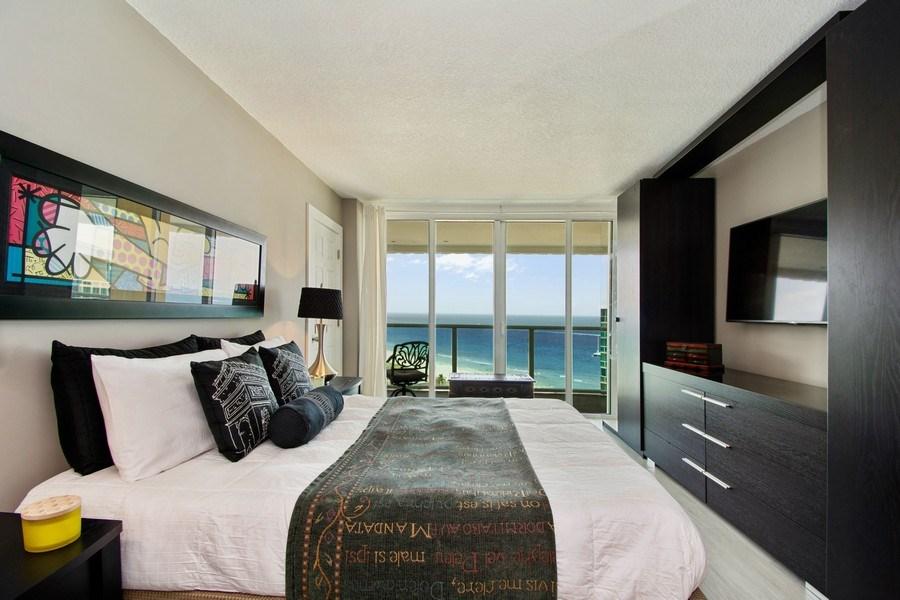 Real Estate Photography - Tiara East Condos, 333 NE 21st Ave #1802, Deerfield Beach, FL, 33441 - Bedroom