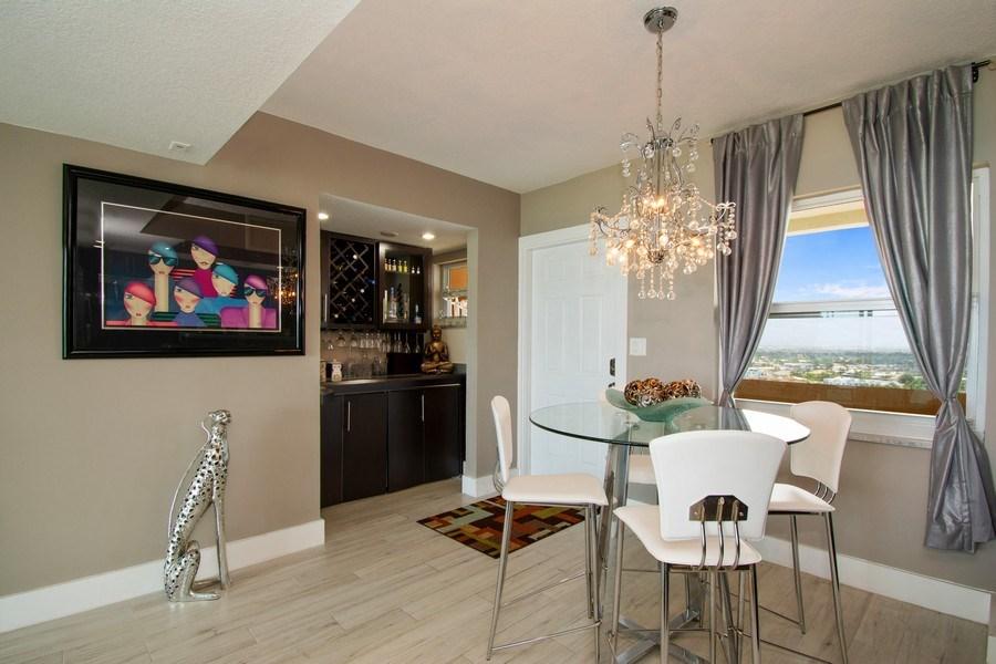 Real Estate Photography - Tiara East Condos, 333 NE 21st Ave #1802, Deerfield Beach, FL, 33441 - Dining Room