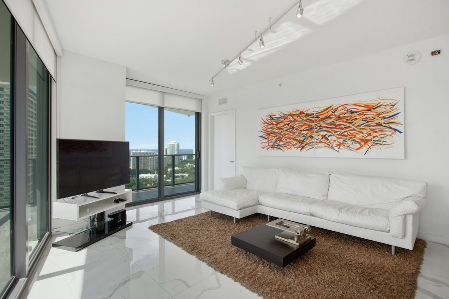 Real Estate Photography - 1300 S. Miami Ave., #2505, Miami, FL, 33130 - Living Room