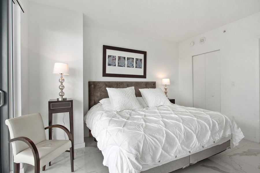 Real Estate Photography - 1300 S. Miami Ave., #2505, Miami, FL, 33130 - Master Bedroom