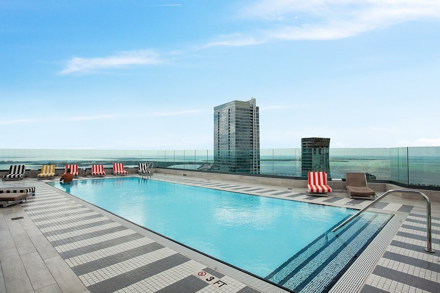 Real Estate Photography - 1300 S. Miami Ave., #2505, Miami, FL, 33130 - Pool