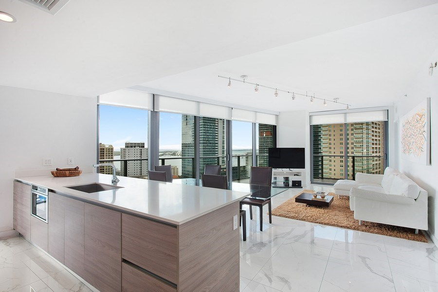 Real Estate Photography - 1300 S. Miami Ave., #2505, Miami, FL, 33130 - Living Room / Dining Room